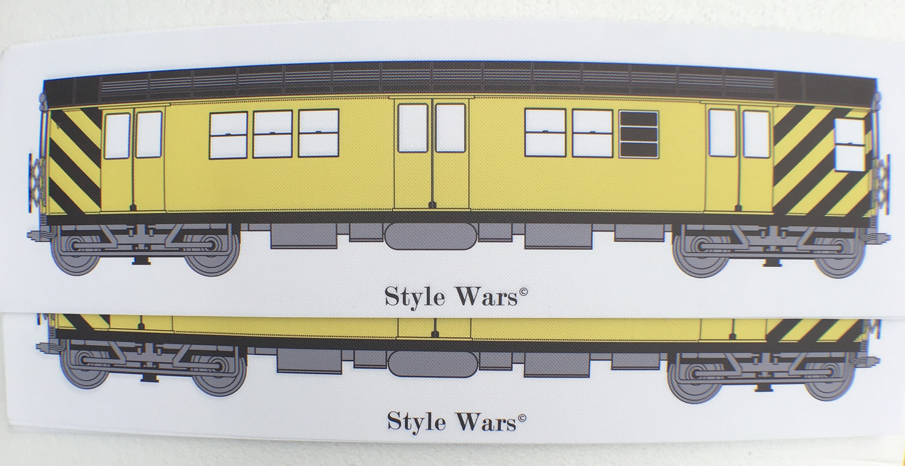 NYC Subway Bumble Bee (yellow) Blanks 3pc Package 60cm x 20 cm / 24 ...